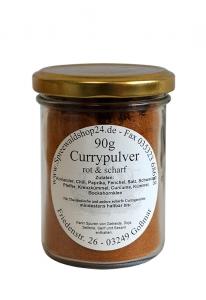 Currypulver - rot & scharf 90g