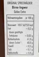 Birne-Ingwer Fruchtaufstrich - 200g