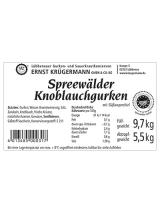 Spreewälder Knoblauchgurken vom Fass 10,2 l --- 80 - 90 Stk.