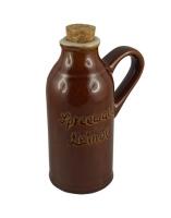 Leinöl Keramikflasche leer, 110ml