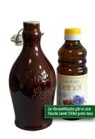 Keramikflasche für Spreewälder Leinöl 260ml