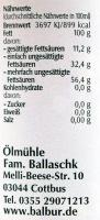 Leindotteröl Balbur B. 100ml