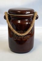 Gurkentopf - Keramik mit Deckel - leer, 900ml