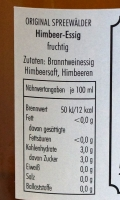 Himbeer Essig aus dem Spreewald, fruchtig - 500ml