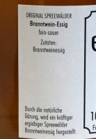 Branntwein Essig aus dem Spreewald, fein sauer - 500ml
