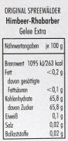 Himbeer-Rhabarber Gelee extra - 200g