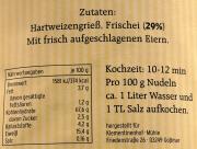 Bandnudeln - Hausmacher Eiernudeln 500g, 29% Frischei Anteil