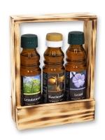 Geschenkträger aus 3 verschiedenen Ölsorten 2*